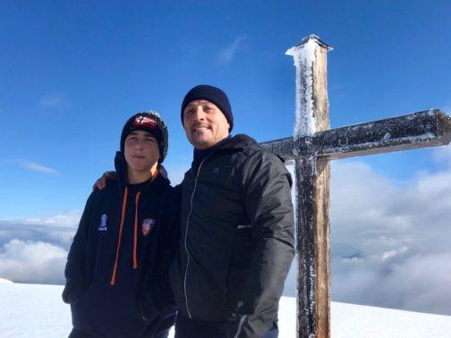 Stage de survie Spirituel en montagne, arrive a la cime